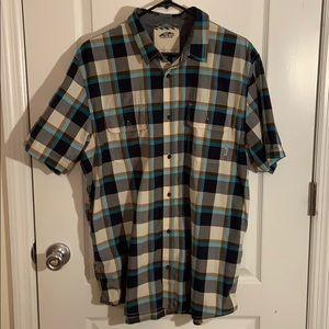 VANS plaid short sleeve button down shirt size L